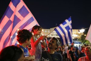 Greeks celebrate No